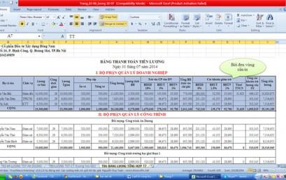 Cách in vùng dữ liệu trong excel 2010