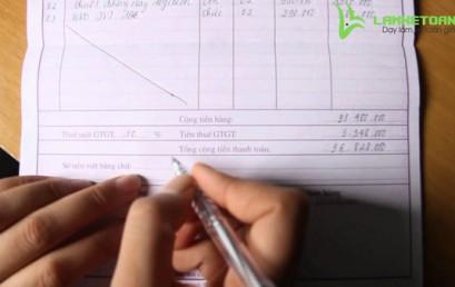 Cách viết hóa đơn bán hàng