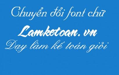 Chuyển đổi font chữ