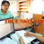 Hướng dẫn kê khai nộp thuế môn bài 2016