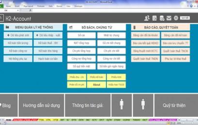 Thực hành kế toán tổng hợp trên Excel