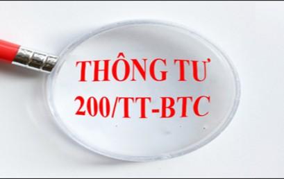 Thông tư 200/2014/TT-BTC những thay đổi đáng chú ý