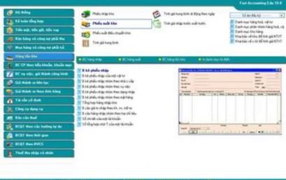 Thực hành kế toán tổng hợp trên phần mềm Fast