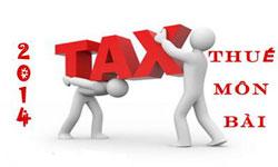 Nộp bổ sung thuế môn bài