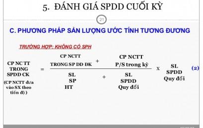 Đánh giá SPDD theo khối lượng sản phẩm hoàn thành tương đương