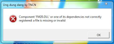 Lỗi khi mở phần mềm TNCN 2.7