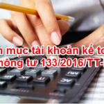 Hệ thống tài khoản kế toán theo thông tư 133/TT – BTC