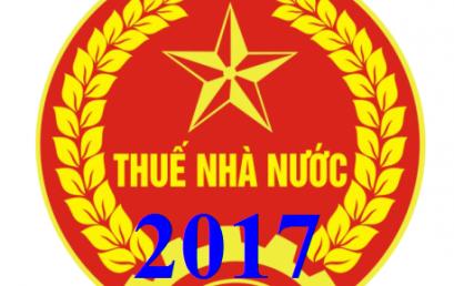 Các văn bản pháp luật thuế mới nhất năm 2017