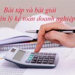 Bài tập nguyên lý kế toán doanh nghiệp: Bài Số 2 – có lời giải