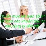 Chuẩn mực kế toán số 07: Kế toán các khoản đầu tư vào công ty liên kết