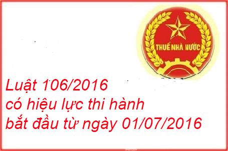 Luật 106/2016/QH13 quy đinh Luật thuế GTGT, Quản lý thuế và TTĐB