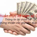 Chuẩn mực kế toán số 08: Thông tin tài chính về những khoản vốn góp liên doanh