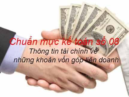 Chuẩn mực kế toán số 08 - Thông tin tài chính về những khoản vốn góp liên doanh
