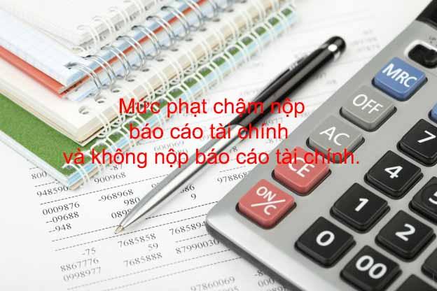 Mức phạt chậm nộp báo cáo tài chính và không nộp báo cáo tài chính.
