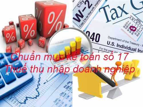 Chuẩn mực kế toán số 17: Thuế thu nhập doanh nghiệp