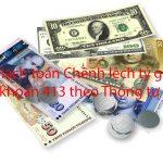 Hạch toán chênh lệch tỷ giá Tài khoản 413 theo Thông tư 133