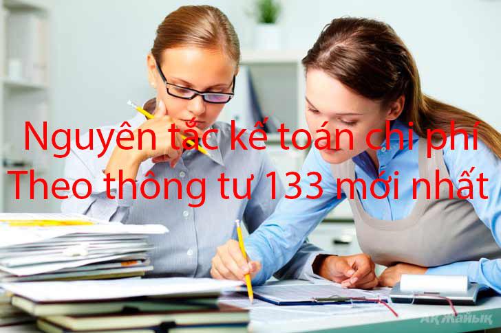 Nguyên tắc kế toán chi phí theo thông tư 133 mới nhất