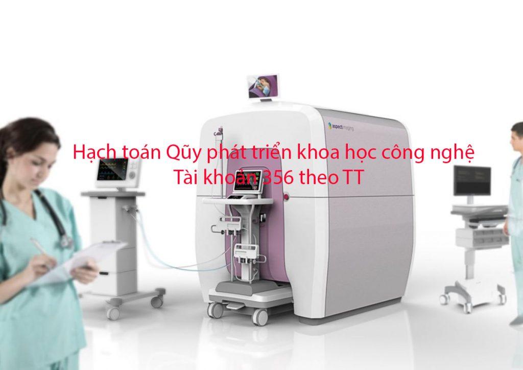 Hạch toán Qũy phát triển khoa học công nghệ TK 356 theo TT 133