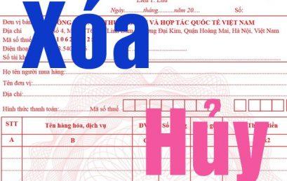 Biên bản hủy hóa đơn và biên bản thu hồi hóa đơn