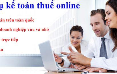 Công việc trọn gói của dịch vụ kế toán thuế online