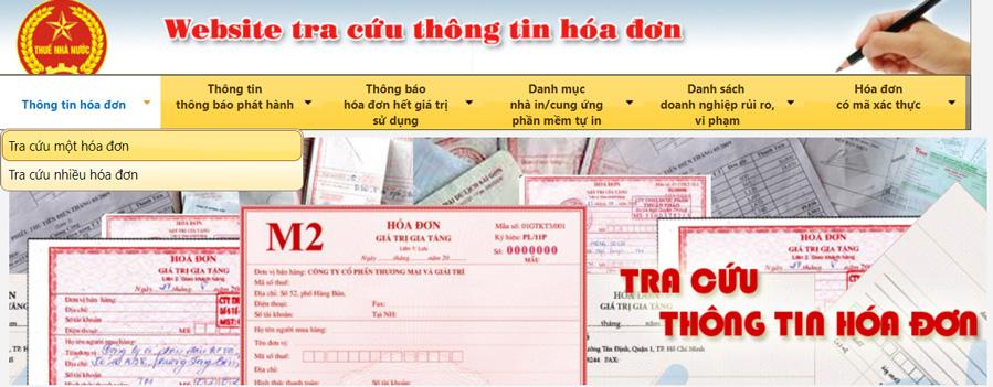 tra cứu hóa đơn gtgt tổng cục thuế