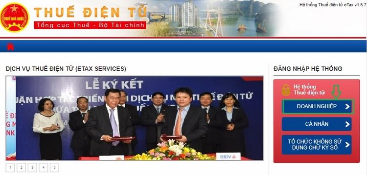 nộp tờ khai trên http://thuedientu.gdt.gov.vn
