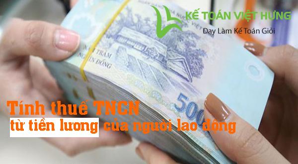 công thức tính thuế TNCN