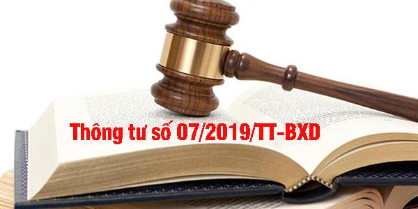 thông tư số 07/2019/tt-bxd