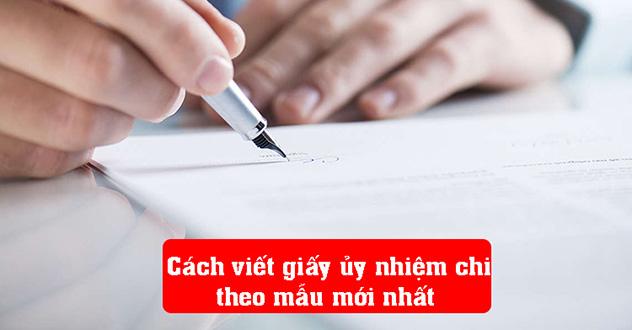 viết giấy ủy nhiệm chi