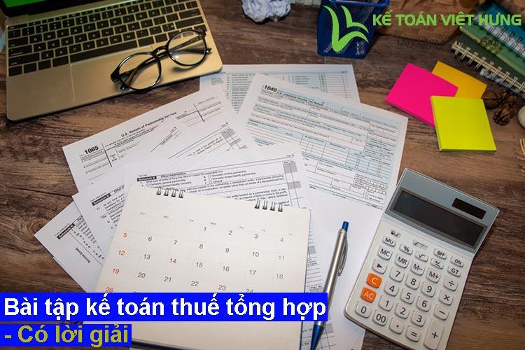 bài tập kế toán thuế tổng hợp