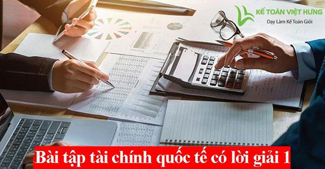 bài tập tài chính quốc tế có lời giải