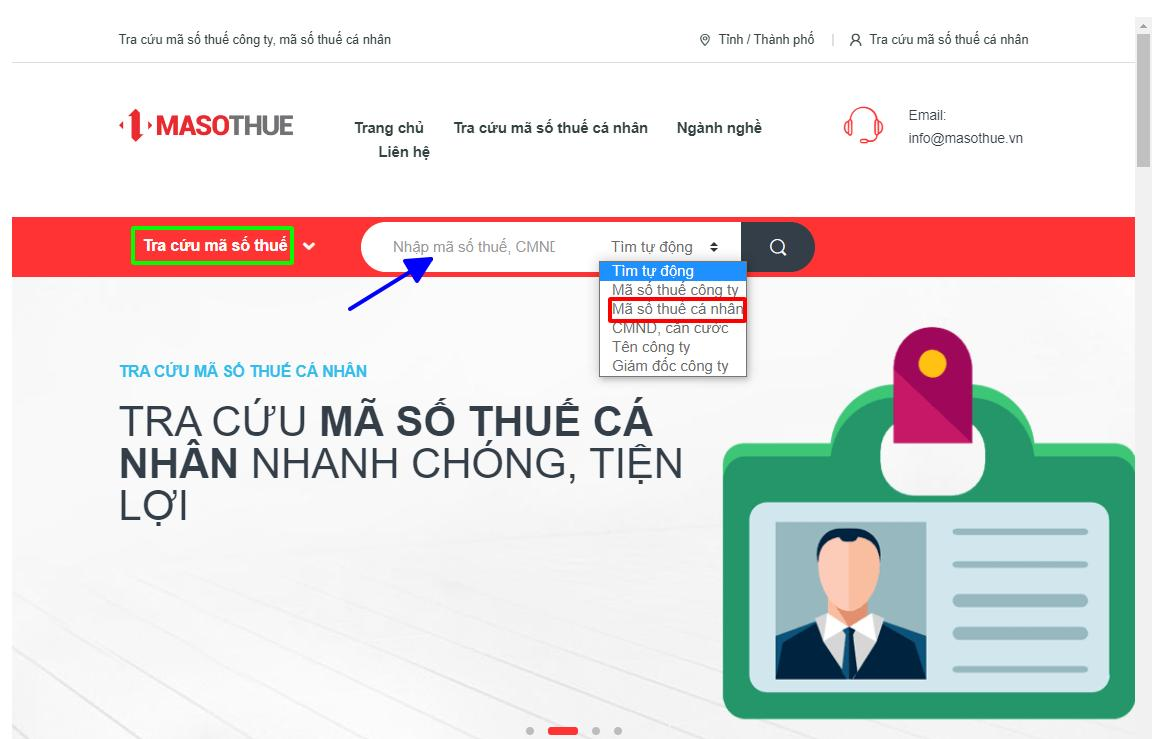 mã số thuế cá nhân online