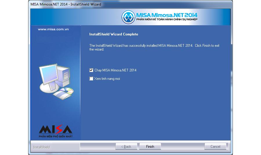 Phần mềm kế toán Misa Mimoza 2014